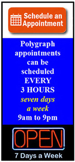 polygraph examination in Yuba City